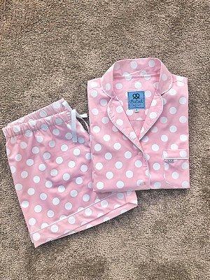 Pijama Curto Poá Rose