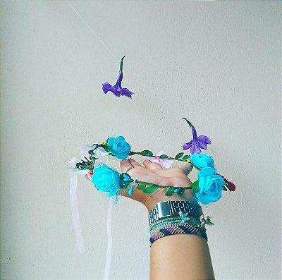 Coroinha de flor azul