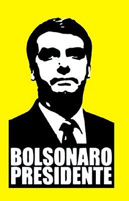 Camiseta Bolsonaro Presidente Amarela (ROSTO PRETO)