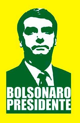 Camiseta Bolsonaro Presidente Amarela (ROSTO VERDE)