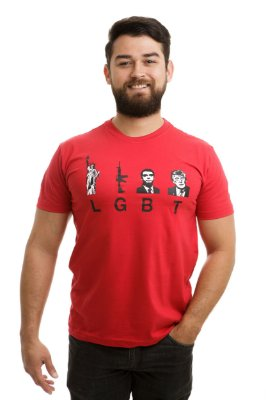 Camiseta LGBT Opressor Vermelha