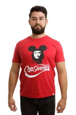 Camiseta Che Guevara Capitalista Vermelha