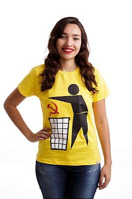 Camiseta Comunismo Lixo Amarela (Baby Look)