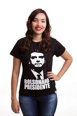 Camiseta Bolsonaro Presidente Preta (Baby Look)