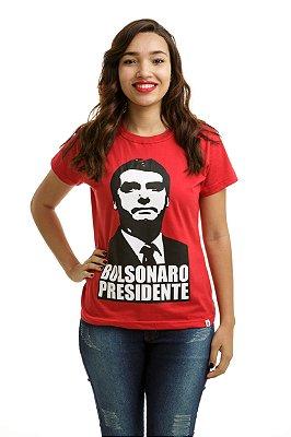 Camiseta Bolsonaro Presidente Vermelha (Baby Look)