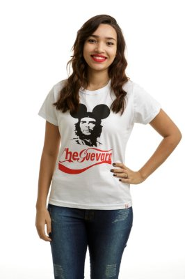 Camiseta Che Guevara Capitalista Branca (Baby Look)