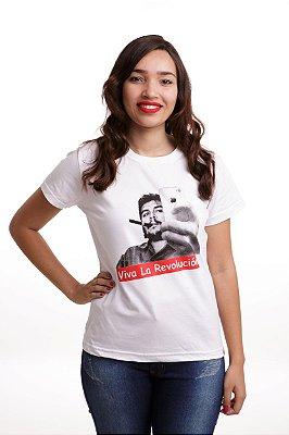 Camiseta Che Guevara Selfie Branca (Baby Look)