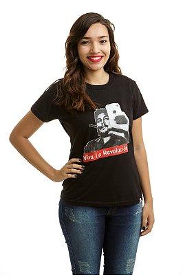 Camiseta Che Guevara Selfie Preta (Baby Look)