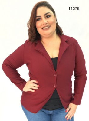 BLAZER PLUS SIZE BORDÔ REF 11378