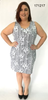 VESTIDO PLUS SIZE ESTAMPA REF 171217
