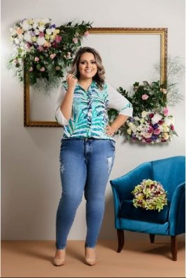 CAMISA PLUS SIZE ESTAMPADA REF 3092