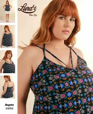 REGATA PLUS SIZE PRETO REF 13751