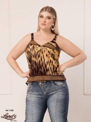 REGATA PLUS SIZE ESTAMPADA REF 11289
