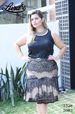 REGATA PLUS SIZE PRETO REF 7528