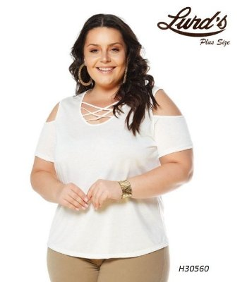 BLUSA PLUS SIZE OFF WHITE REF H30560