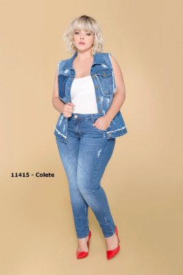 COLETE PLUS SIZE DESTROYED JEANS REF. 11415