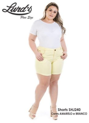 SHORTS PLUS SIZE MEIA COXA REF. SHJ240
