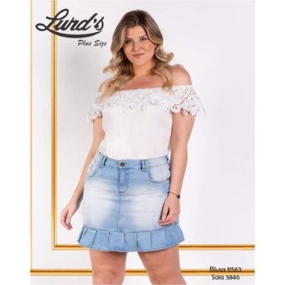 BLUSA PLUS SIZE CIGANINHA OFF WHITE REF 11563