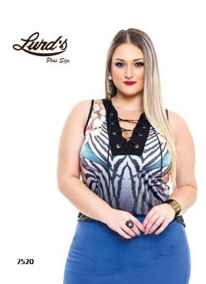REGATA PLUS SIZE ESTAMPA REF 7520