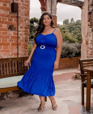 SAIA PLUS SIZE MIDI ROYAL REF 820054