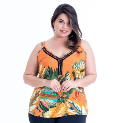 REGATA PLUS SIZE ESTAMPA TERRA REF 11794