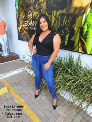 BODY PLUS SIZE S/M PRETO REF 706600