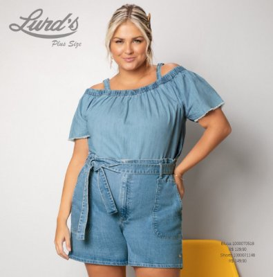 SHORTS JEANS PLUS SIZE REF.1000071148