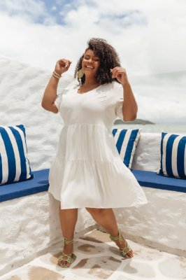 VESTIDO PLUS SIZE M/M OFF WHITE REF. 900351