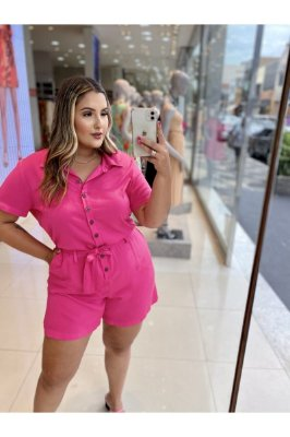 MACAQUINHO PLUS SIZE M/M PINK REF. 900353