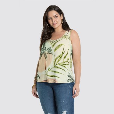 REGATA PLUS SIZE ESTAMPA VERDE REf. 47102