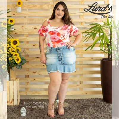 MINI SAIA PLUS SIZE JEANS REF. 7058