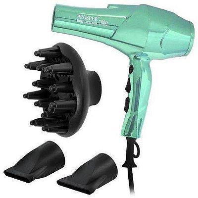 Secador cabelos profissional Prosper P7800 5300w Ionic System 110 V Verde
