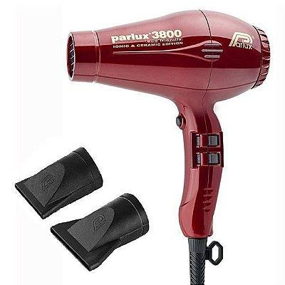 Parlux Secador de Cabelo  3800 Ion Ceramic Eco Friendly 2100W 220V - Vermelho