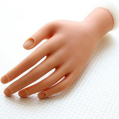 Mão Sintética para Treino de Unhas Manicure