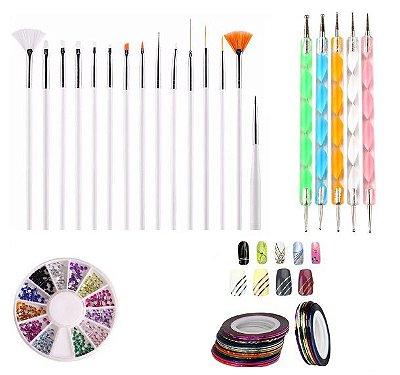 Kit decoração de unhas