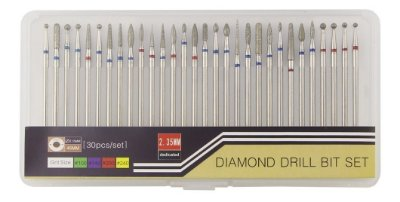 Kit 30 brocas diamantadas