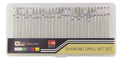 Kit 30 brocas diamantadas