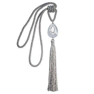 Pingente p/ cortina prata c/ pedra diamante F209018