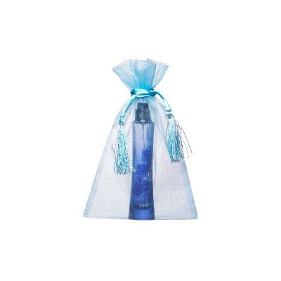 Saquinho de organza Azul pastel com pingente 24x15cm B155967