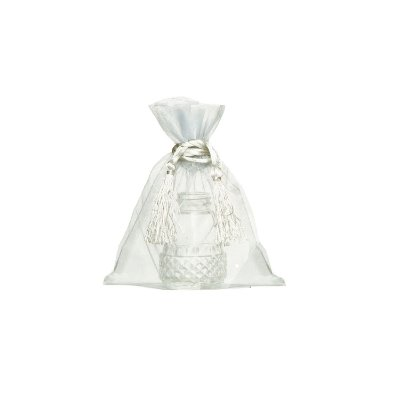 Saquinho de organza Branco com pingente  17 x 13cm B15653