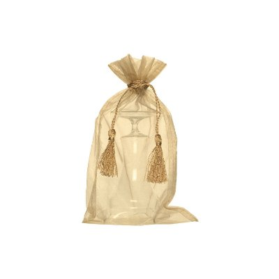 Saquinho de organza Nude com pingente 35x21cm B158057
