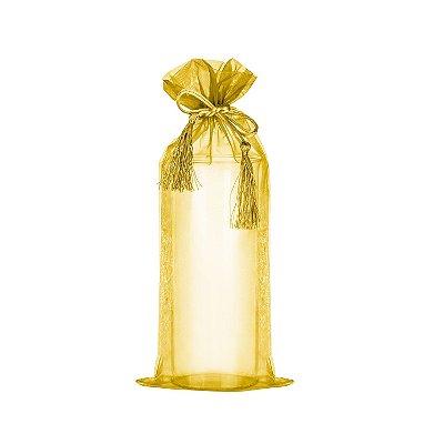 Saquinho de organza Ouro com pingente 38x17cm B155949