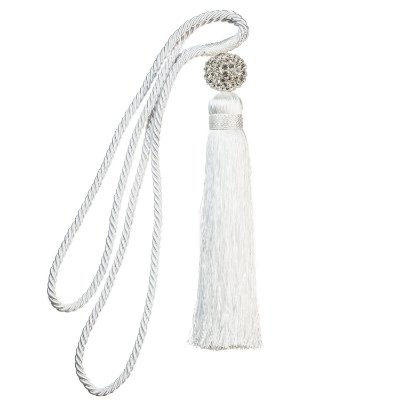 Pingente p/ cortina branco c/ globo de diamantes F209021