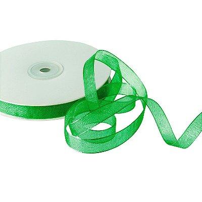 Fita Organza Maça Verde 0,95cm x50m A20C605
