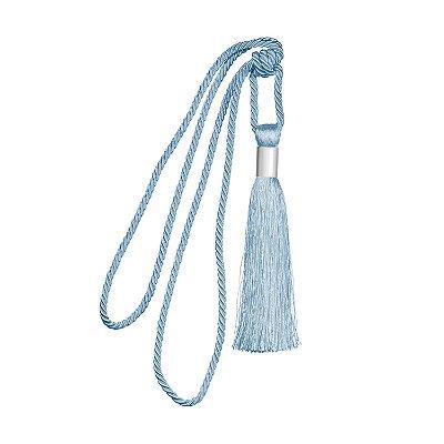 Pingente p/ cortina Azul detalhe em metal F209057