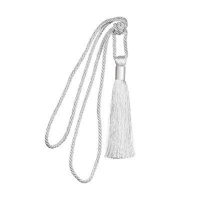Pingente p/ cortina Branco detalhe em metal F209055