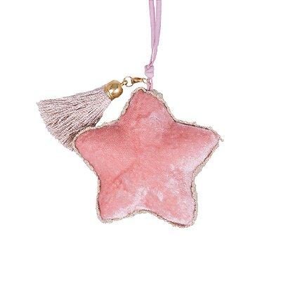 Estrela p/ pendurar Rosa c/ medalha e tassel G559319