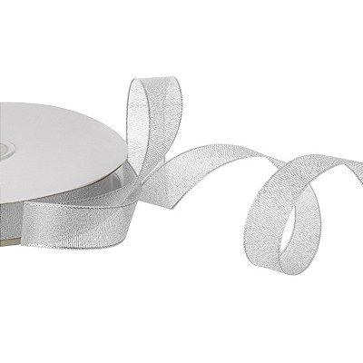 Fita metalica prata 2,54cmx50m