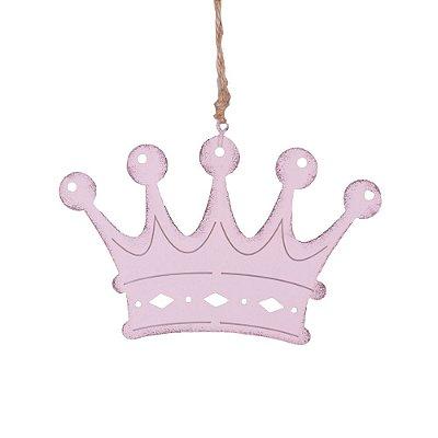 Coroa rosa p/ pendurar em metal F359122