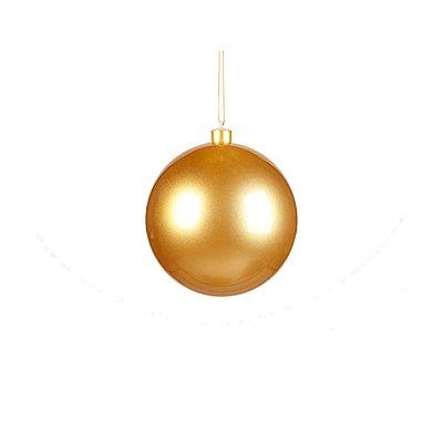 Bola ouro 8cm pacote com 6 bolas G109401